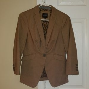 The Limited Blazer with Leopard Print Interior -XS